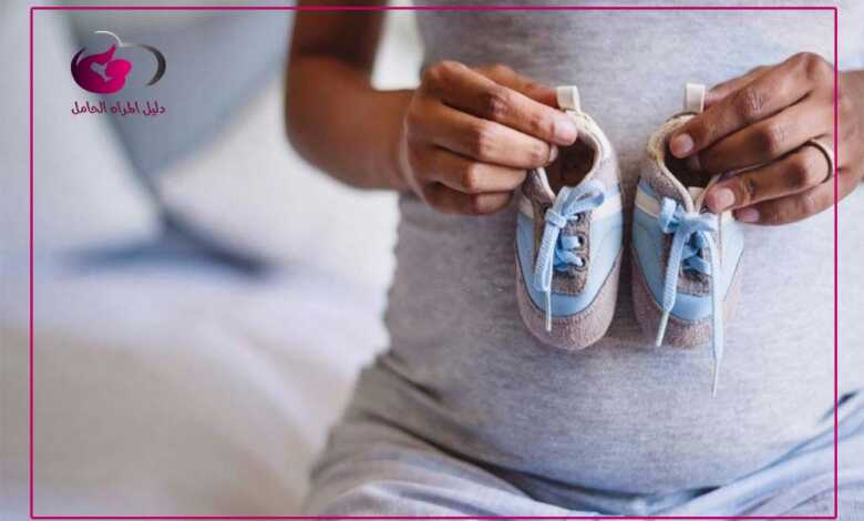 شكل بطن الحامل بولد