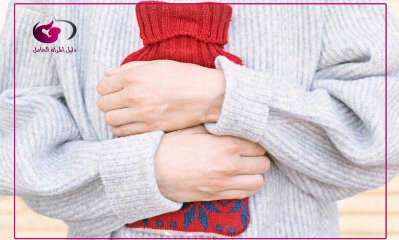 اسفل البطن للحامل في الشهر الثالث